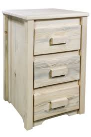 3 Drawer Nightstands Homestead Timber Frame 3 Drawer Nightstand Stained Lacquered Or