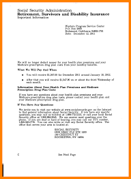4 social security awards letter example cv for teaching