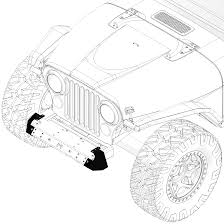 jeep wrangler front drawing frame built jeep bumper 231011 cj