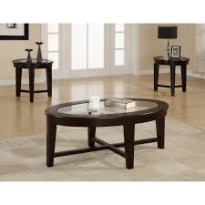 3 Piece Dining Room Set by Coaster Furniture 3 Piece Glass Top Black Coffee Table Set Hayneedle