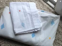 tagesdecke kinderzimmer tagesdecke kinderzimmer gardine weiß hell blau 144 x 237 cm in