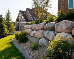 boulder retaining wall design u2013 eye catching garden wall ideas