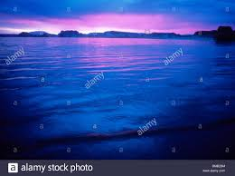 sunrise lake powell utah usa water blue cool calm smooth peace