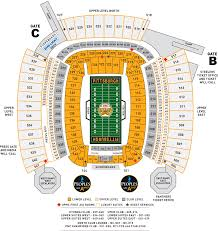 Pepsi Center Seating Map Heinz Field Seating Charts And Stadium Diagrams