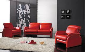 living room comfortable dark red leather l shape sofa with