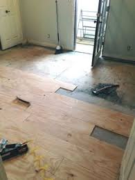 diy plywood plank flooring plywood water damage and sunroom