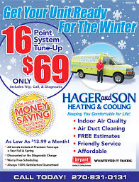 Always Comfortable Heating And Air Conditioning Specials U2013 Hager And Son Heating And Cooling