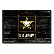 us army star military flag vintage canvas print with picture frame