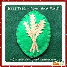 jesse tree ornaments naomi and ruth u2013 faith and fabric