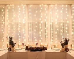 sheer curtains with lights curtain backdrop etsy