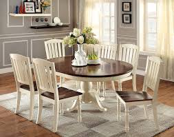 Dining Room Tables White by Amazon Com Furniture Of America Pauline 7 Piece Cottage Style