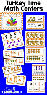 november math centers for kindergarten thanksgiving math turkey