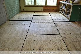 breakfast room progress plywood subfloor installed concrete
