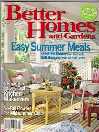 Bhg Kitchen Makeovers - buy better homes and gardens july 2007 easy summer meals 5 fast