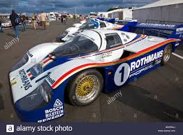 porsche racing colors lineup of classic rothmans porsche race winning le mans cars stock