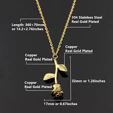 rose pendant necklace gold images Romantic charming rose pendant necklace jewelry jpg