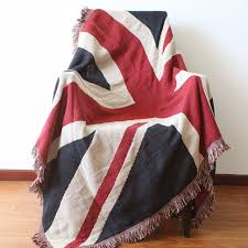 canapé angleterre angleterre drapeau coton multifonction couverture de fil tricoté