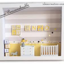 image chambre bebe cadre prénom bebe vitrine miniature naissance chambre bebe modèle