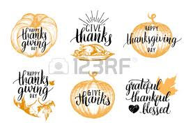 pumpkin vector illustration with happy thanksgiving day lettering
