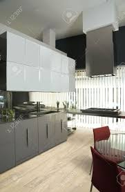 modern luxury kitchen designs modern luxury kitchen with olive tree parquet stock photo picture
