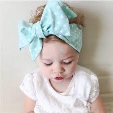baby headwraps 5pcs lot baby headwraps knot plaid big bow headband