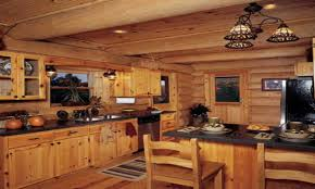 Rustic Cabin Kitchen Cabinets Distressed White Cabinets Rustic Log Cabin Kitchen Cabinets Log