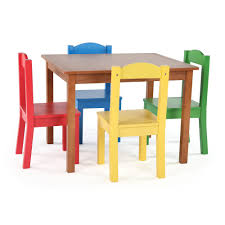 tot tutors table and chair set tot tutors highlight 5 piece natural primary kids table and chair