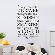 Love Anchors The Soul Wall - kids wall decals always remember you are braver and loved old