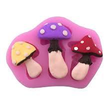 buy 84378224983130 mushroom shape silicone mold fondant cake
