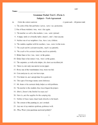 3 worksheet on subject verb agreement with answers purchase