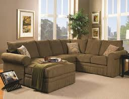 Living Room Design With Brown Leather Sofa Furniture Excellent U Shaped Couch For Comfortable Living Room