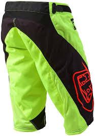 buy motocross gear troy lee designs sprint shorts yellow black motocross pants troy