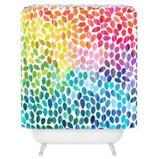 Multi Color Shower Curtains Wonderful Bright Shower Curtains And Rainbow Colors Multicolor