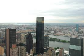 file trump world tower and east river in manhattan new york city