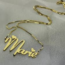 personalized name plate necklaces gold nameplate necklace personalized heart style name