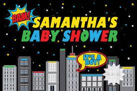 Superhero Backdrop Superhero Baby Shower Backdrop Printable Baby Shower Table Banner