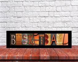Basketball Room Decor Basketball Sign Etsy
