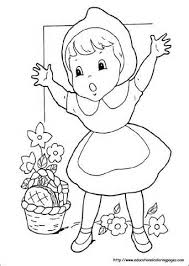 wonderful red riding hood pictures kids colouring pages