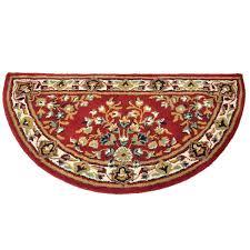 44 u0027 u0027 half round burgundy oriental fireplace rug northline express