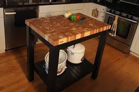butcher block kitchen island cart butcher block end grain hickory island cart mcclure block