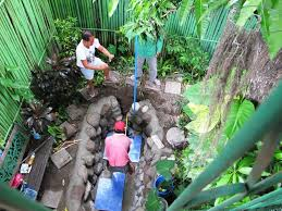 philippines phil day two of the fishpond build