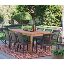 Wood Patio Dining Table by Belham Living Brisbane Outdoor Wood Extension Patio Dining Set