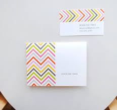 personalized chevron stationery note cards modern thank you