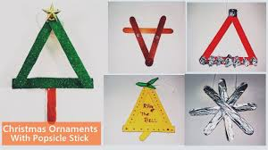 diy 5 easy christmas ornaments with popsicle stick christmas
