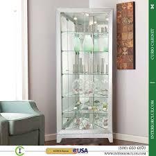 curio cabinet cozyite polished corner cabinet for bathroom