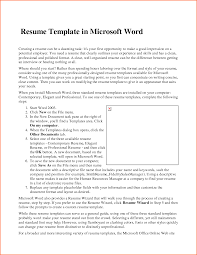 Resume In Ms Word Format Resume Microsoft Word Resume Template 2007