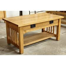craftsman style coffee table coffe table cb322165583 amazon com leick furniture mission drawer