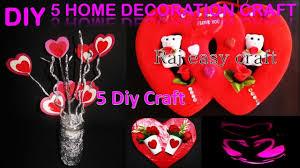 home decor crafts diy 5 home decoration craft diy room decor easy crafts ideas
