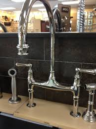 rohl kitchen faucet high end rohl bridge kitchen faucet railing stairs and striking
