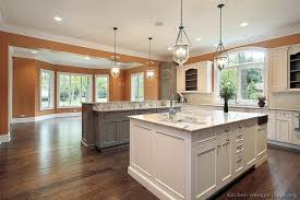 kitchen with two islands pictures of kitchens traditional two tone kitchen cabinets